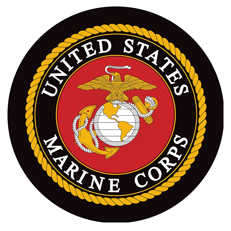 United States Marine Corps Padded Swivel Bar Stool