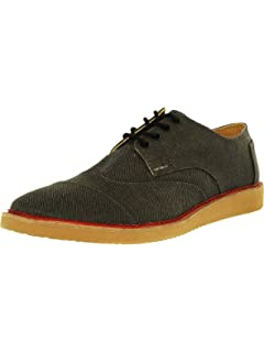 53469cebcf9 TOMS Ash Aviator Twill Men s Brogues Black 10007000 (Size  ...