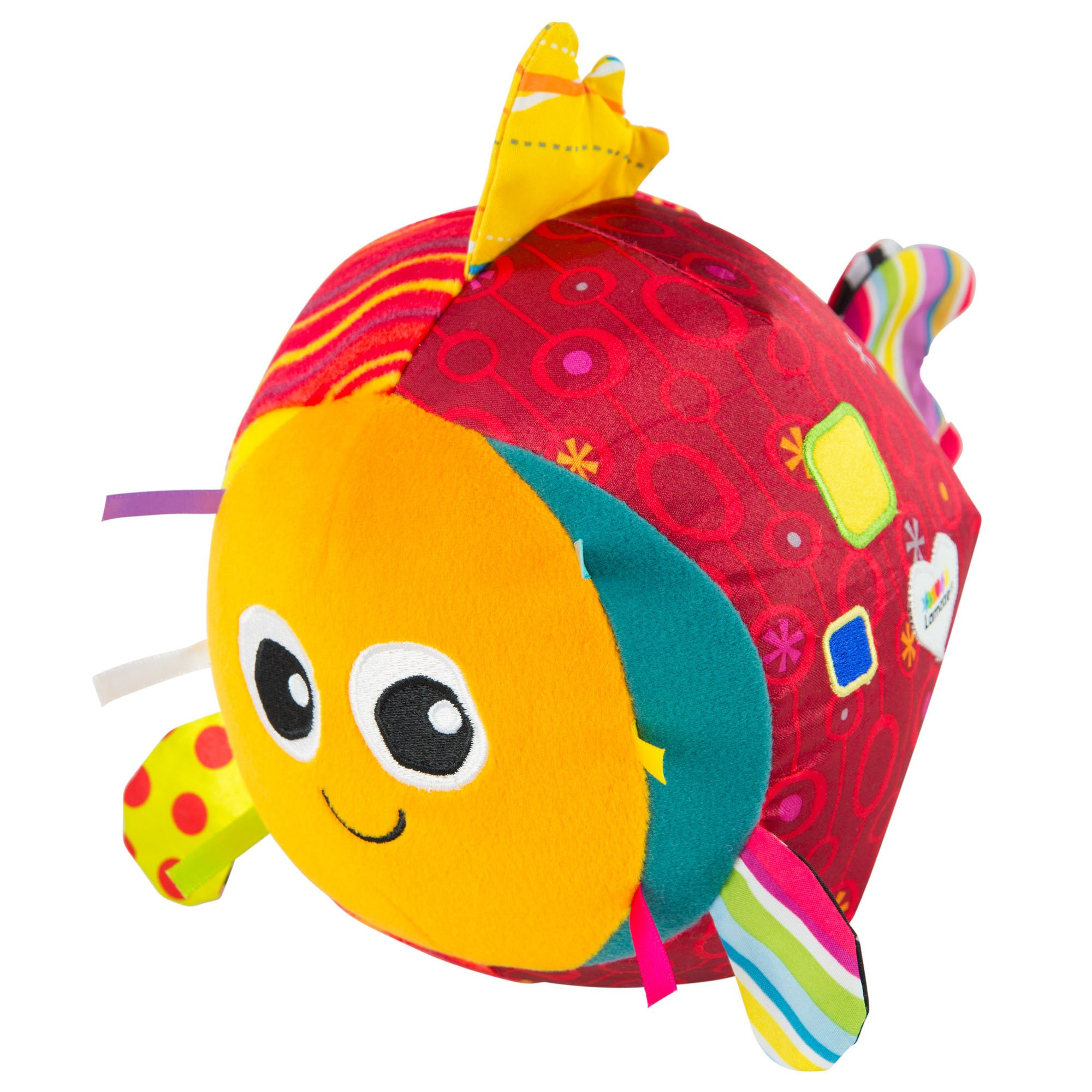 LAMAZE - Rolling Rosa Toy, Help Baby Reach, Push, and Get Crawling by Supporting Tummy Time with Bright Colors, Easy Motion, and Fun Chimes, 6 Months and Older