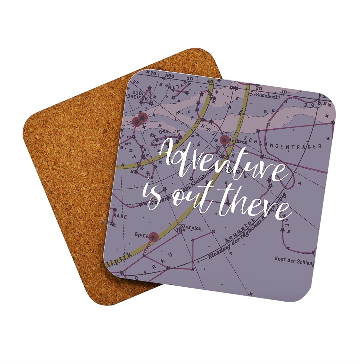 Drink Coasters Travel Quotes Novelty Coaster Set Gifts for Men Women   Amazon.co.uk  Kitchen   Home da9f939d1f