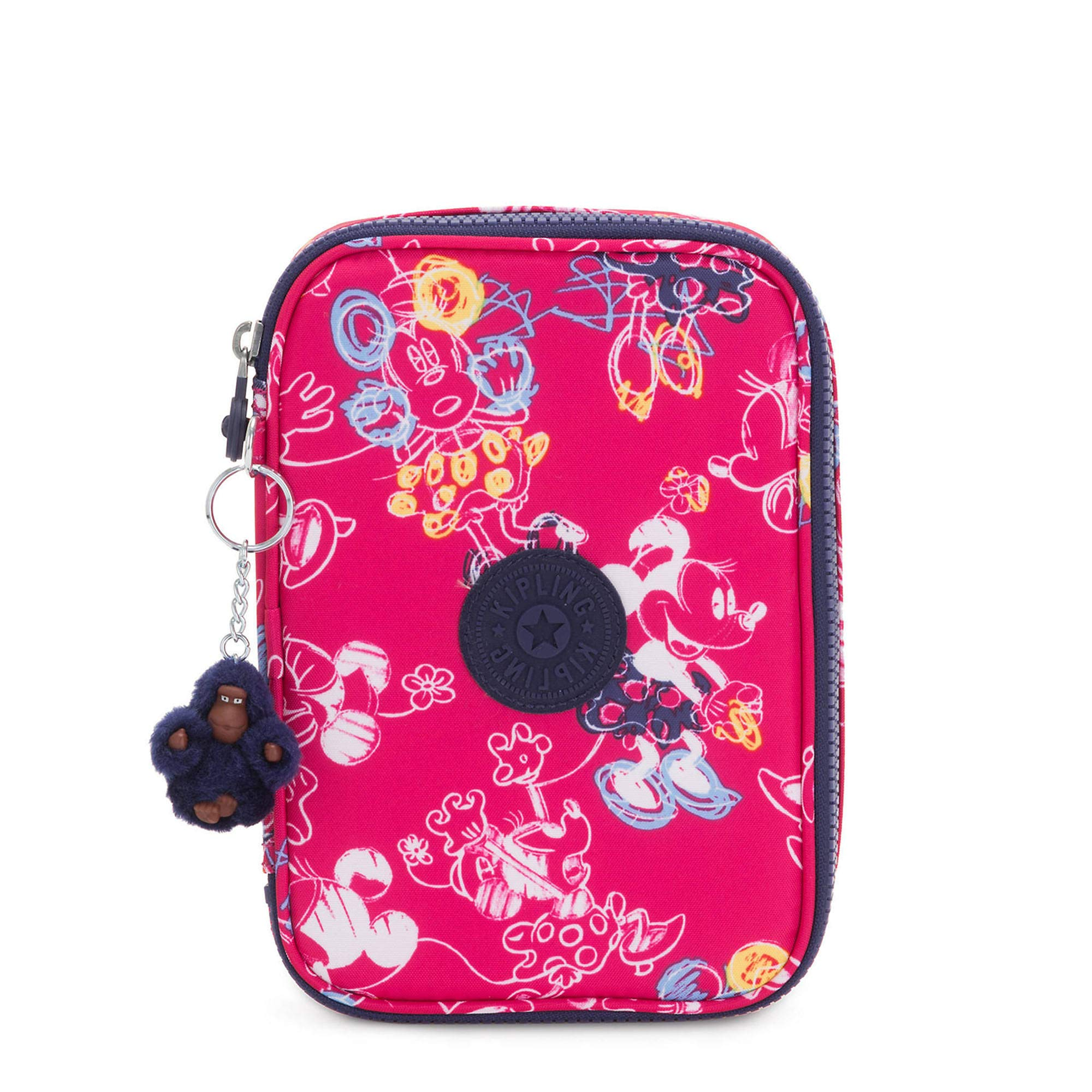 Kipling Disney's Minnie Mouse And Mickey Mouse 100 Pens Printed Case Doodle Pink by Kipling