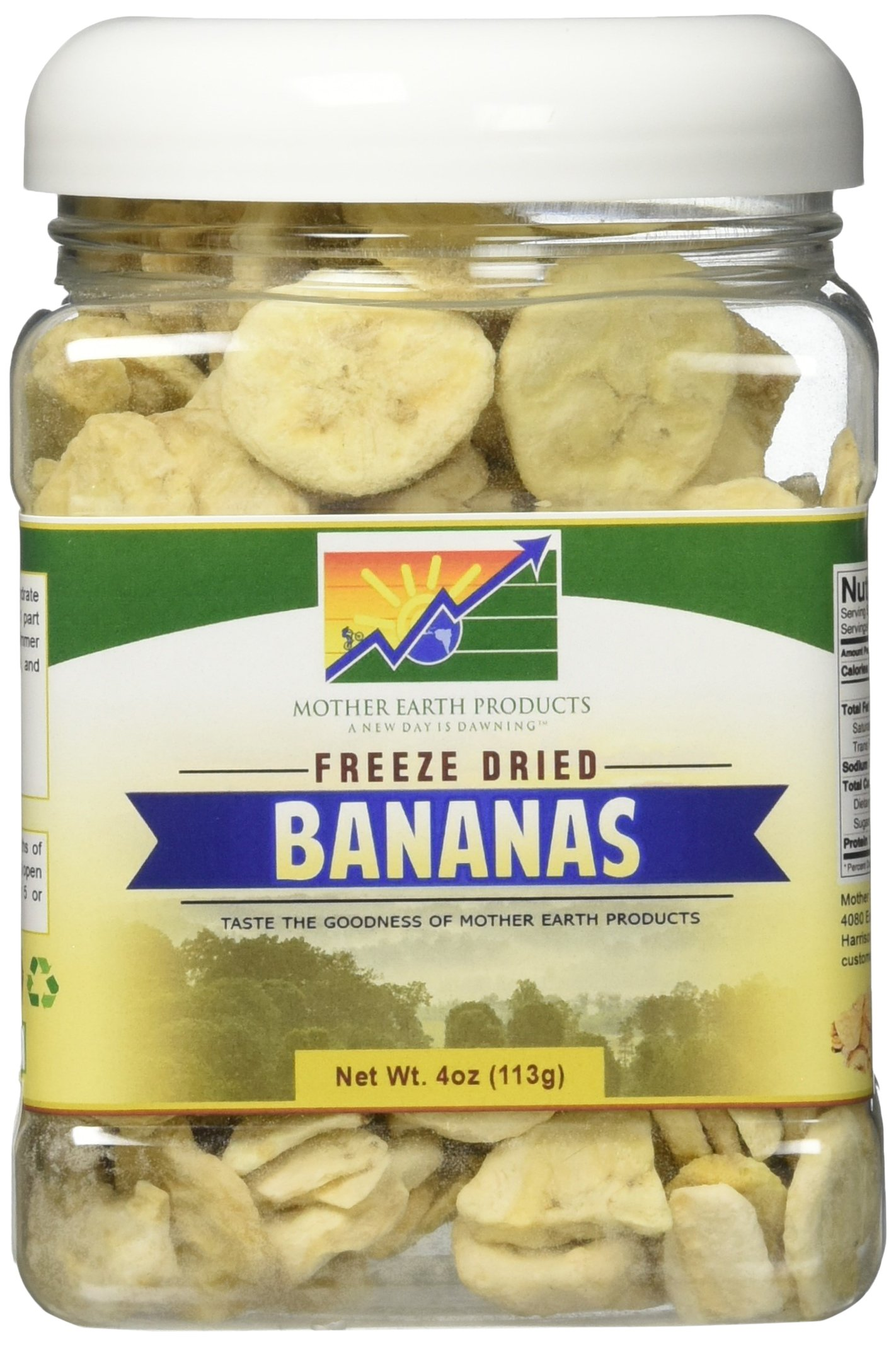 Mother Earth Products Freeze Dried Bananas, Quart Jar by Mother Earth Products (Image #1)