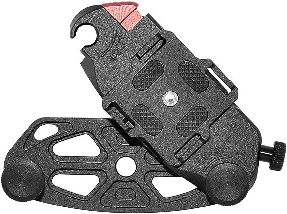 Liberación Rápida De Montaje Colgador De Cámara 1x Cintura Cinturón de Hebilla Soporte para DSLR Accesorio