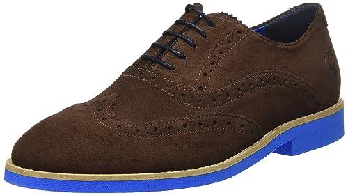 M, Zapatos de Cordones Oxford para Hombre, Marrón (Marrón), 43 EU El Ganso