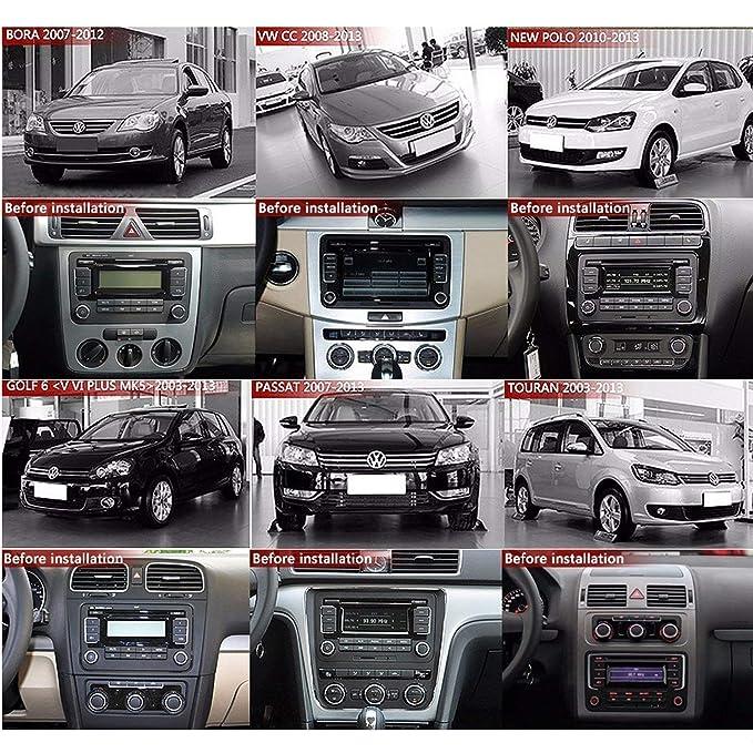 KKXXX S9 para VW Volkswagen Android Estéreo 9 pulgadas Navegación GPS Auto Radio AM / FM / RDS CANBUS Cable ISO 1GB RAM 16GB ROM Enlace espejo BT Manos ...