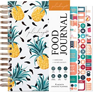 PLANBERRY Food Journal – Nutrition Planner with Diet & Calorie Tracker – Wellness Diary for Tracking Meals & Exercise – Weight Loss Journal for Women & Men - 6.3″ x 8.5″ Hardcover