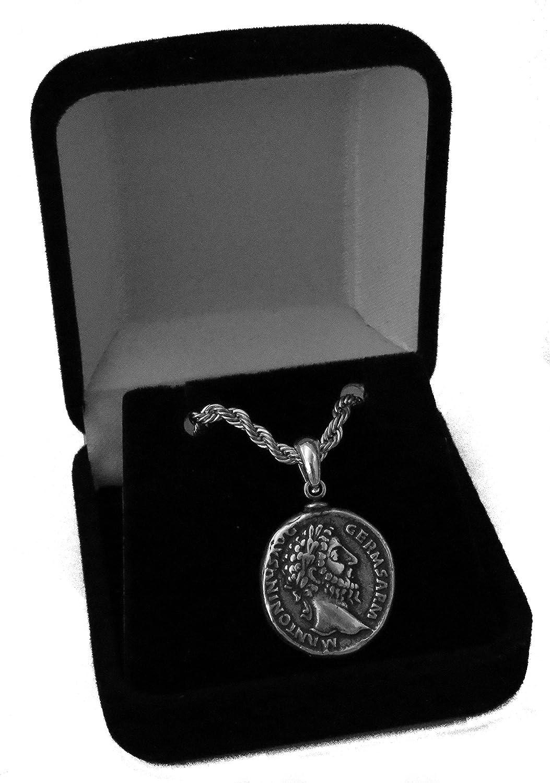 Beautiful old roman king bronze unique pendant.