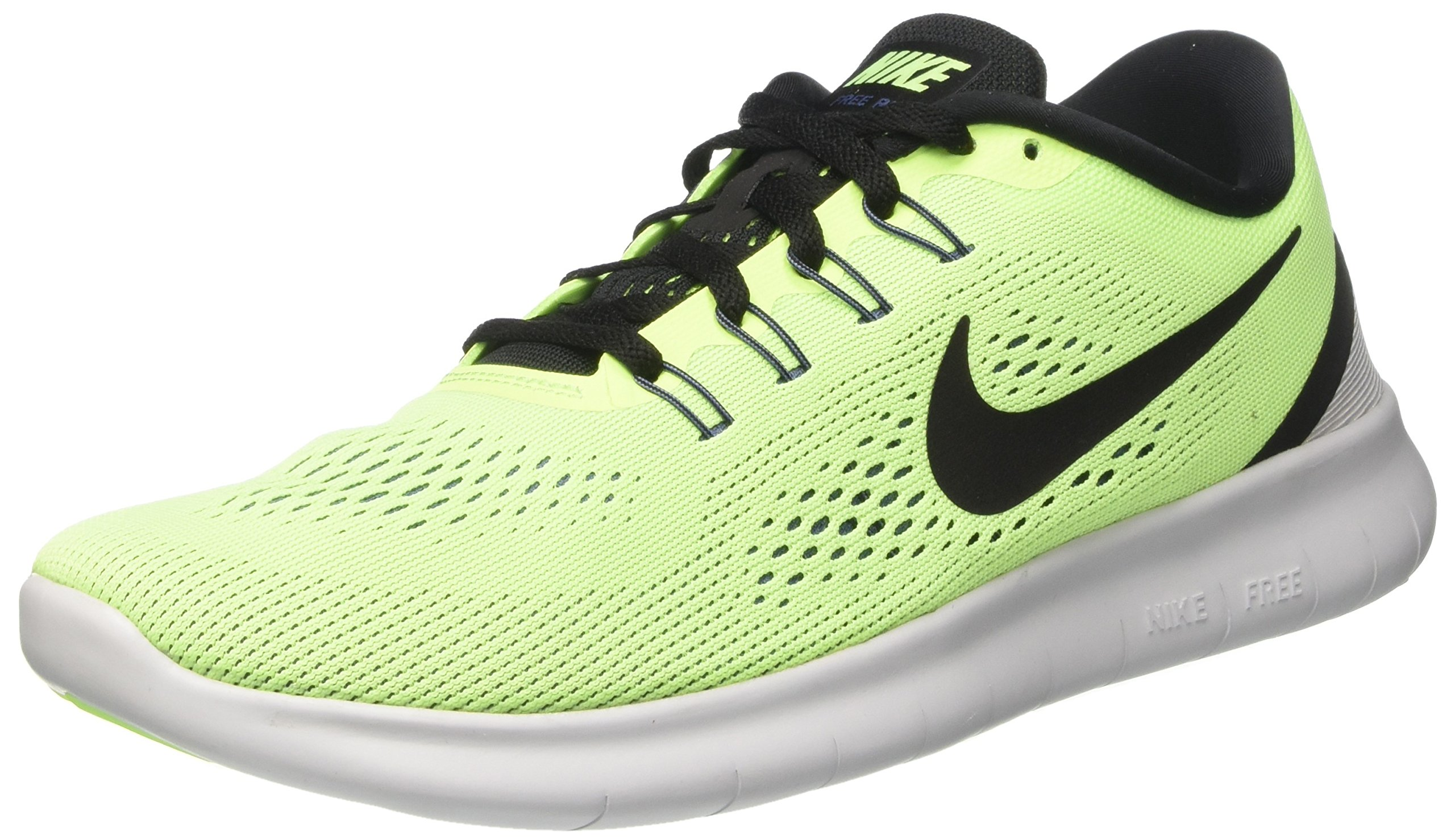 Nike Men's Free RN Running Shoe (Ghost Green/Black-Blue Moon, 11 D M US, Mesh)