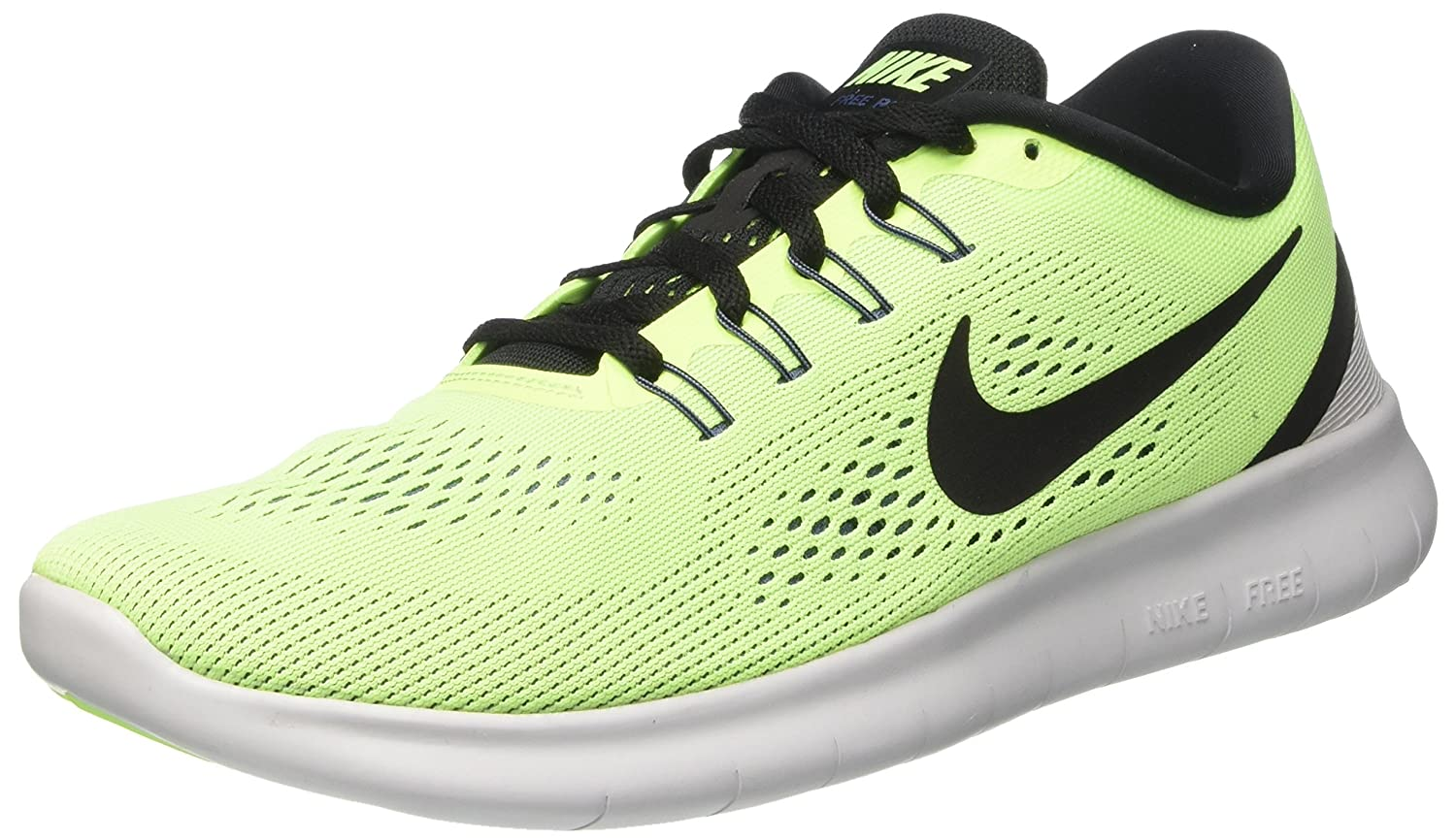 NIKE Men's Free RN Running Shoe B005OCS72C 12.5 D(M) US|Ghost Green/Black-Blue Moon