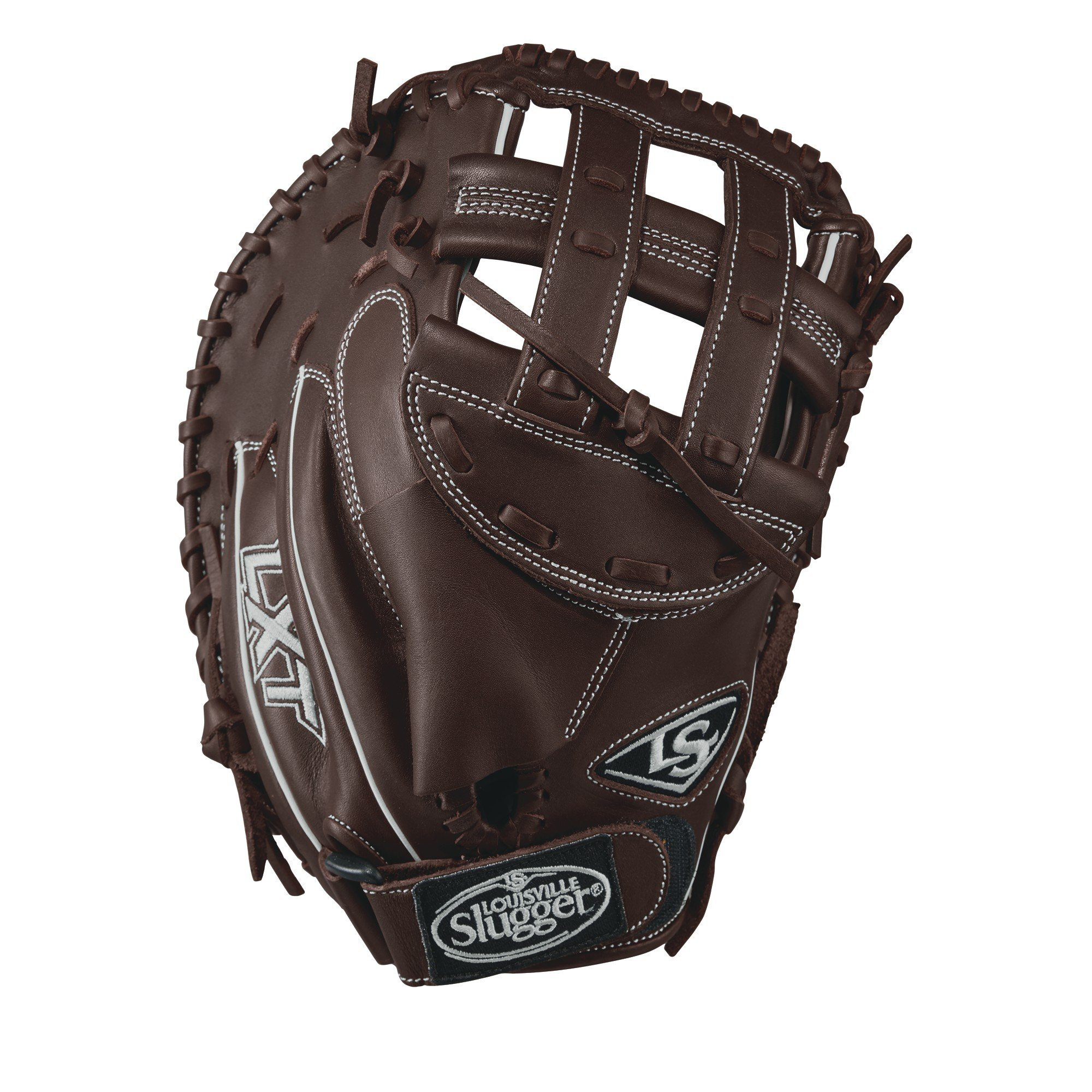 Louisville Slugger LXT Catcher's Mitts, Left Hand, 33'', Dark Brown/White by Louisville Slugger
