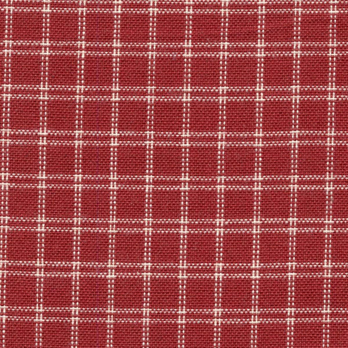 Dunroven House Cream Windowpane Plain Weave Towel-Red