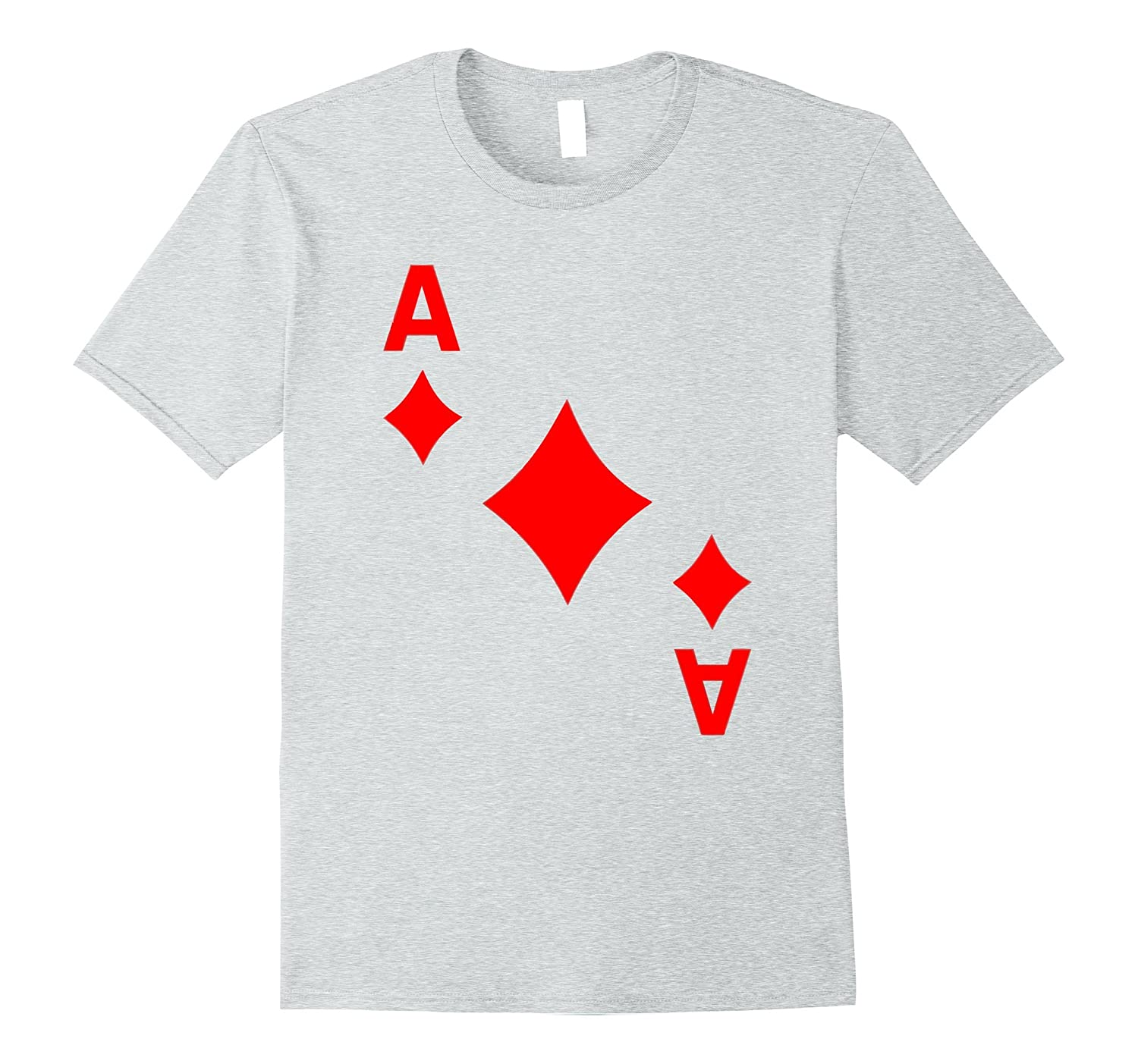 Ace of Diamonds - Playing Card Halloween Costume T-Shirt-ANZ