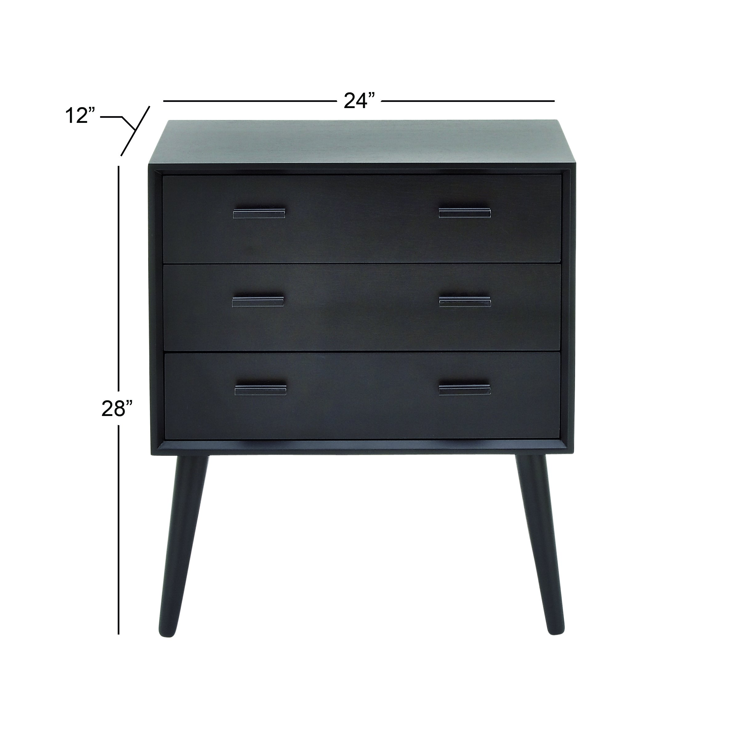 Benzara 96394 Wood Chest 24''W, 28''H by Benzara (Image #5)