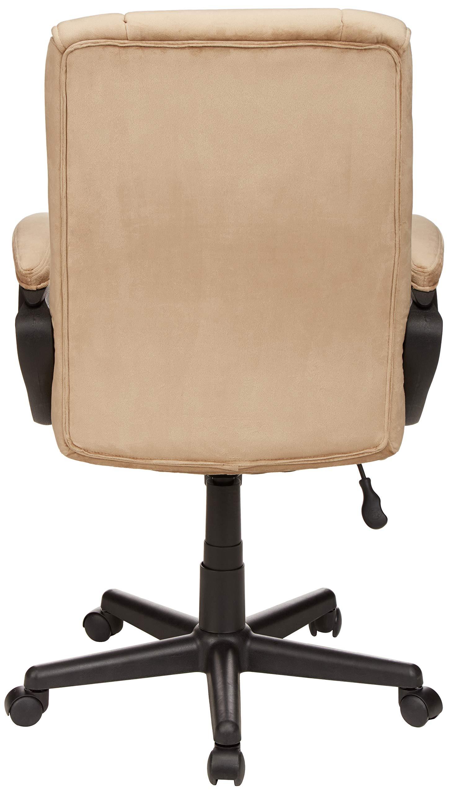 AmazonBasics Classic Office Chair - Adjustable, Swiveling, Microfiber Cover - Light Beige by AmazonBasics (Image #5)
