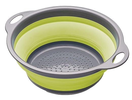 152 opinioni per Kitchen Craft Colourworks, Scolapasta pieghevole, 24 cm, colore: Verde
