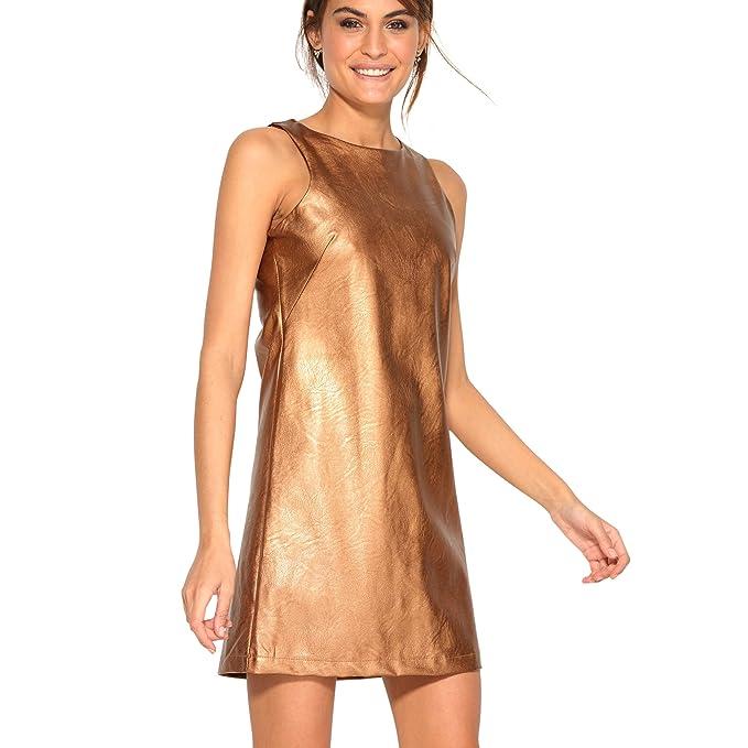 VENCA Vestido Cerrado por Cremallera metálica en la Espalda Mujer by VencaSt - 008566, Cobre, 38: Amazon.es: Ropa y accesorios