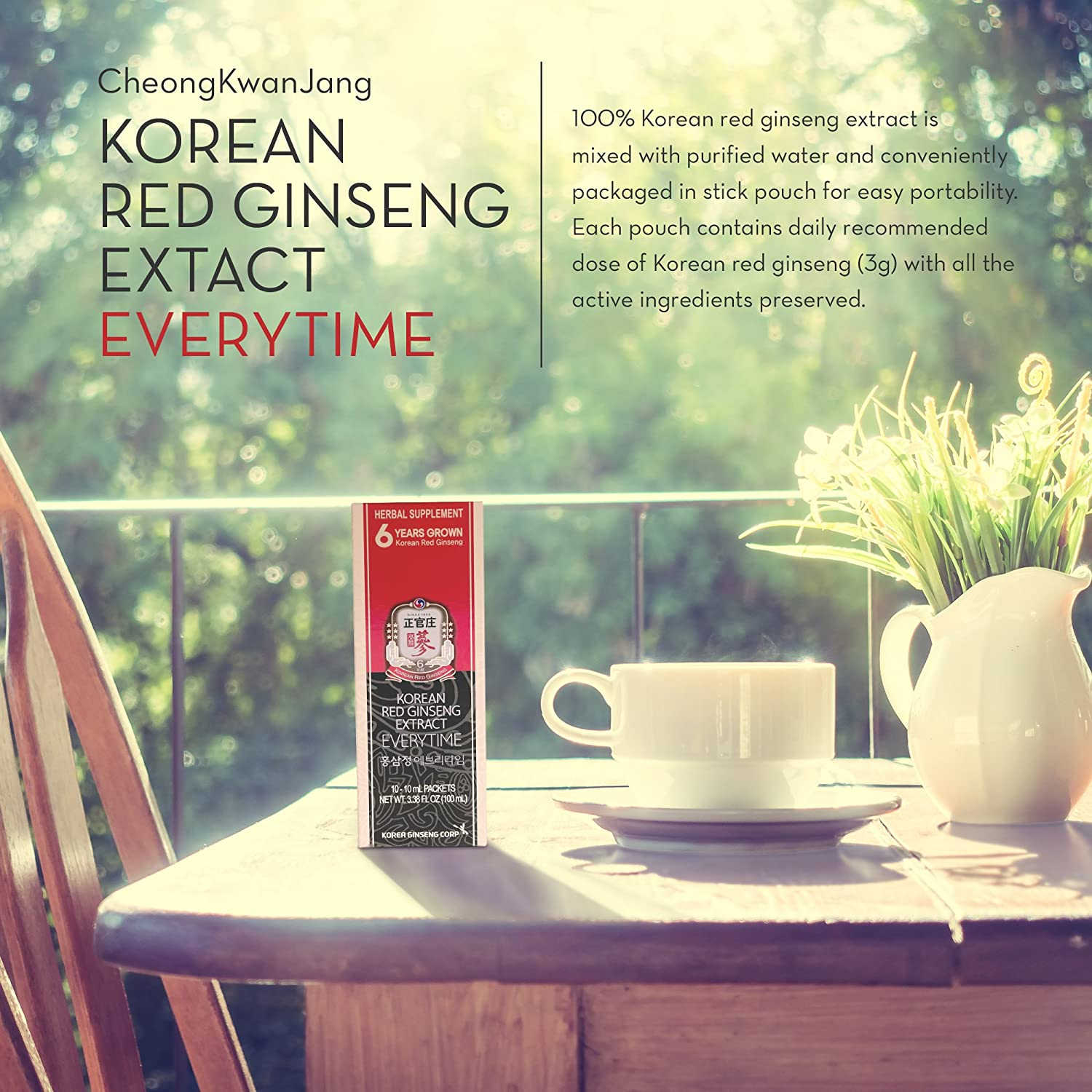 KGC Ginseng Everytime Extract, 10 Count