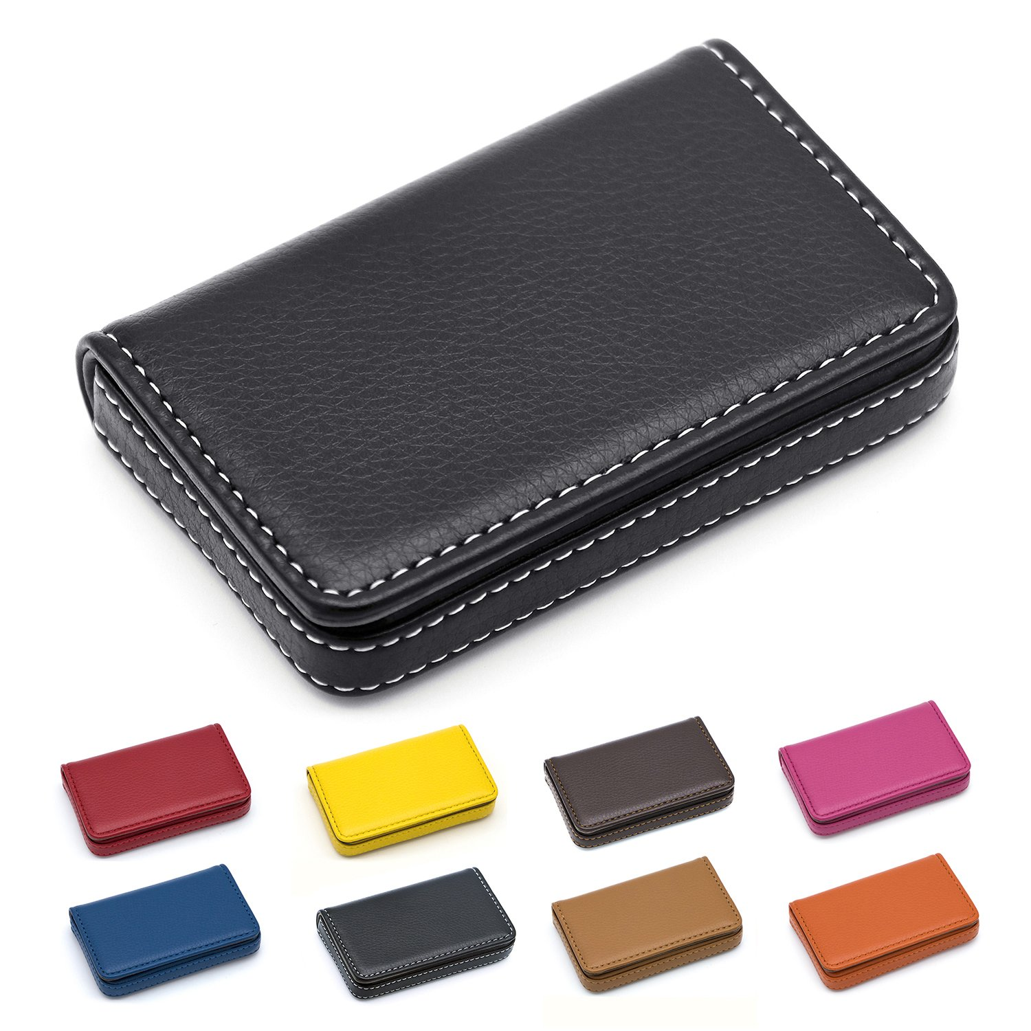 cde13af723dc1 Amazon.com  Padike Business Name Card Holder Luxury PU Leather ...