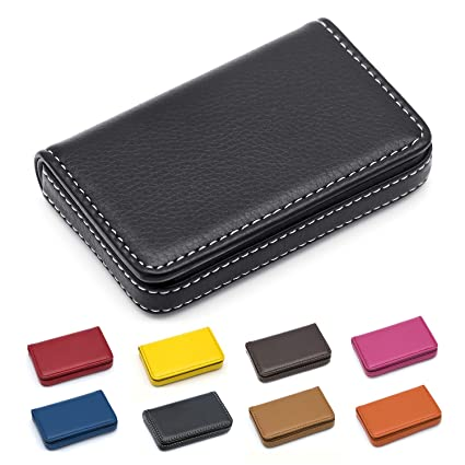 Amazon Com Padike Business Name Card Holder Luxury Pu Leather