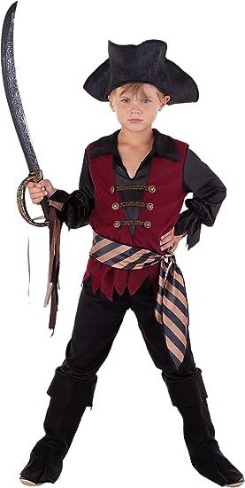 Karibischer Capitán – Piratas Disfraz infantil niño rojo de Negro ...