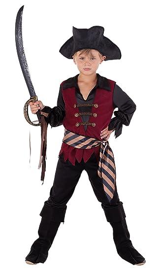 Magicoo Karibischer Kapitän Piratenkostüm Kinder Faschingskostüm Pirat Kostüm Jungen (140150)