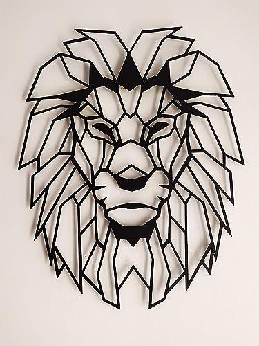 SOFT ART HOME Modern Wall Art Lion Head