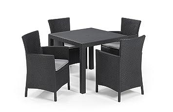 Keter - Set de mobiliario de jardín Quartet/Iowa (mesa + 4 ...