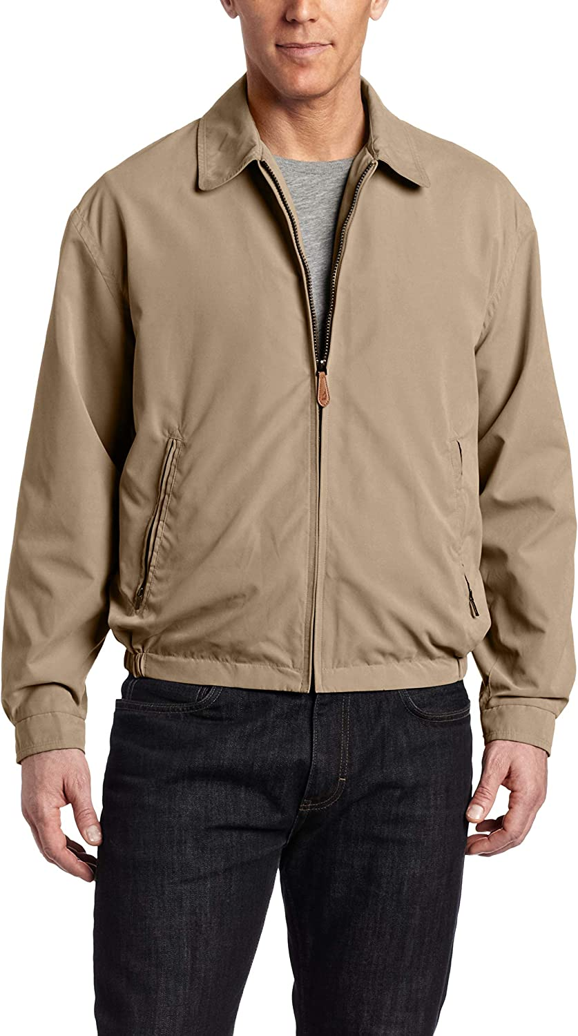 London Fog Men's Auburn Zip-Front Golf Jacket (Regular & Big-Tall Sizes) at  Men's Clothing store