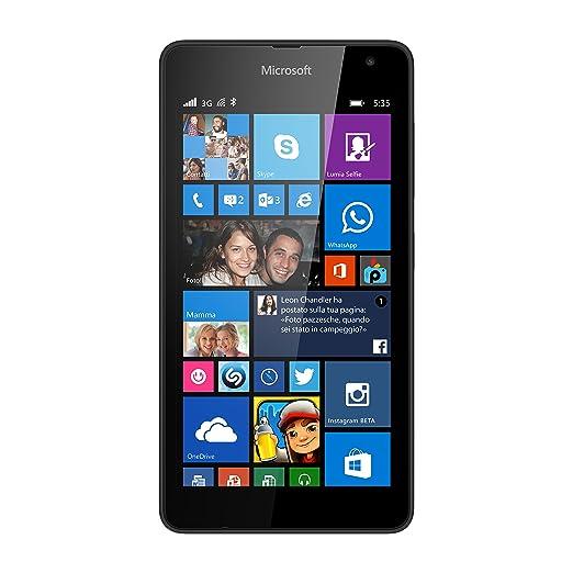 425 opinioni per Microsoft Lumia 535 Smartphone, 8 GB, Nero [Italia]