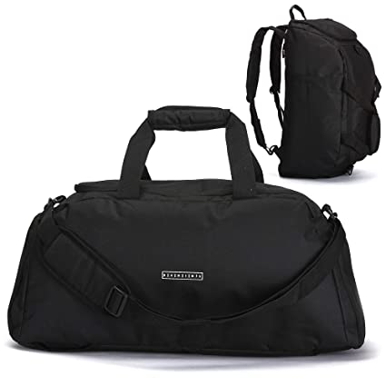 c9f22cb82 ronin's - Bolsa de Deporte 3 en 1, Bolsa de Viaje con Compartimento para  Zapatos, función de Mochila, Compartimento para portátil, Equipaje de Mano  ...
