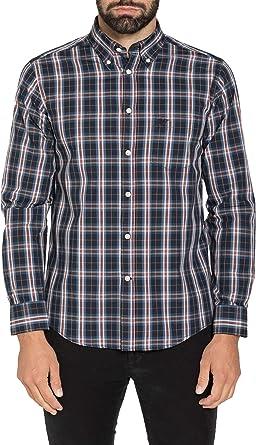 Carrera Jeans - Camisa para Hombre, a Cuadros ES XL: Amazon ...