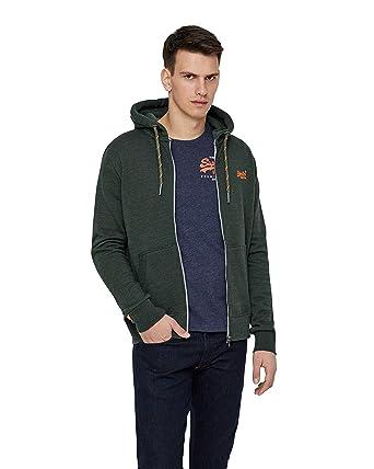 236266644ea2 Superdry - Sweat-Shirt à Capuche - Homme Vert Green  Amazon.fr ...