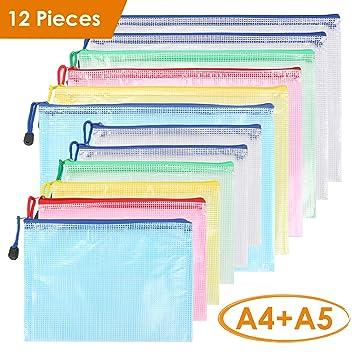 Bolsa de Archivo de cremallera Kasimir A4A5 Bolsa de documentos de zip 5 colores malla bolsa de archivo bolsas de cremallera impermeable con ...