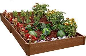 Greenland Gardener 8-Inch Raised Bed Double Garden Kit