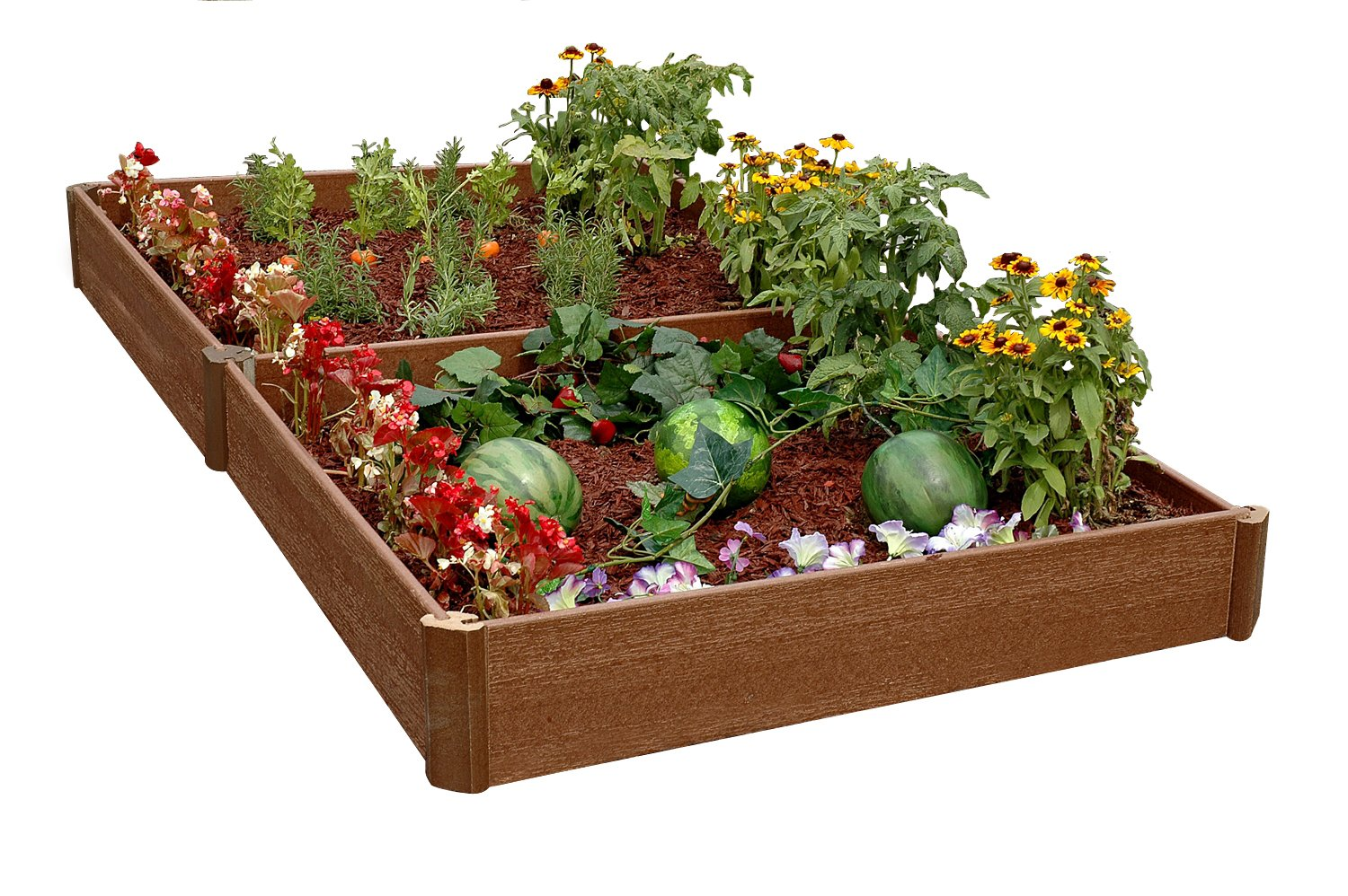 Amazoncom Greenland Gardener 8 Inch Raised Bed Double Garden
