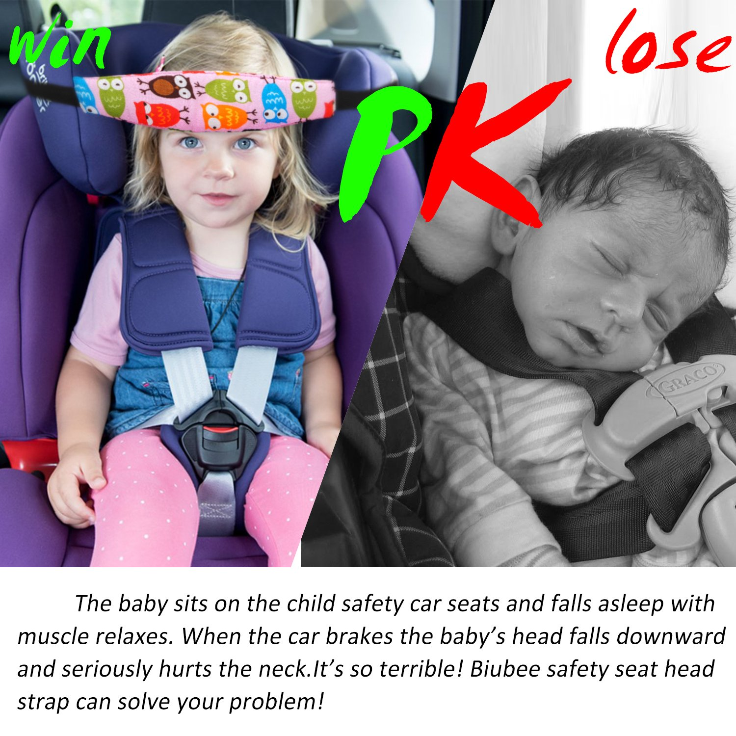 4 Pack Infant Baby Head Support Belt Car Seat Neck Relief And Band For Toddler Kid Adjustable Sleeping Strap