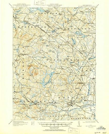 Amazon.com: YellowMaps Mt Pawtuckaway NH topo map, 1:62500 ... on