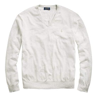 224ee848775a5e Polo Ralph Lauren Men's Big & Tall Pima Cotton V-Neck Sweater at Amazon  Men's Clothing store: