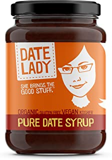 product image for Date Lady Organic Date Syrup 12 Ounce Glass Jar | Vegan, Paleo, Gluten-free & Kosher
