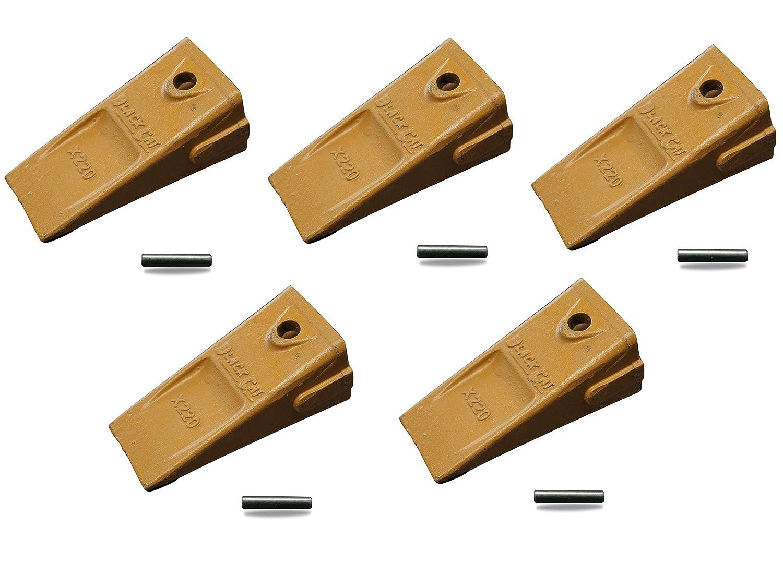 X220 5 Pack Dirt Teeth Hensley Bucket Digging Teeth//Tooth /& 5 P160 Roll Pins