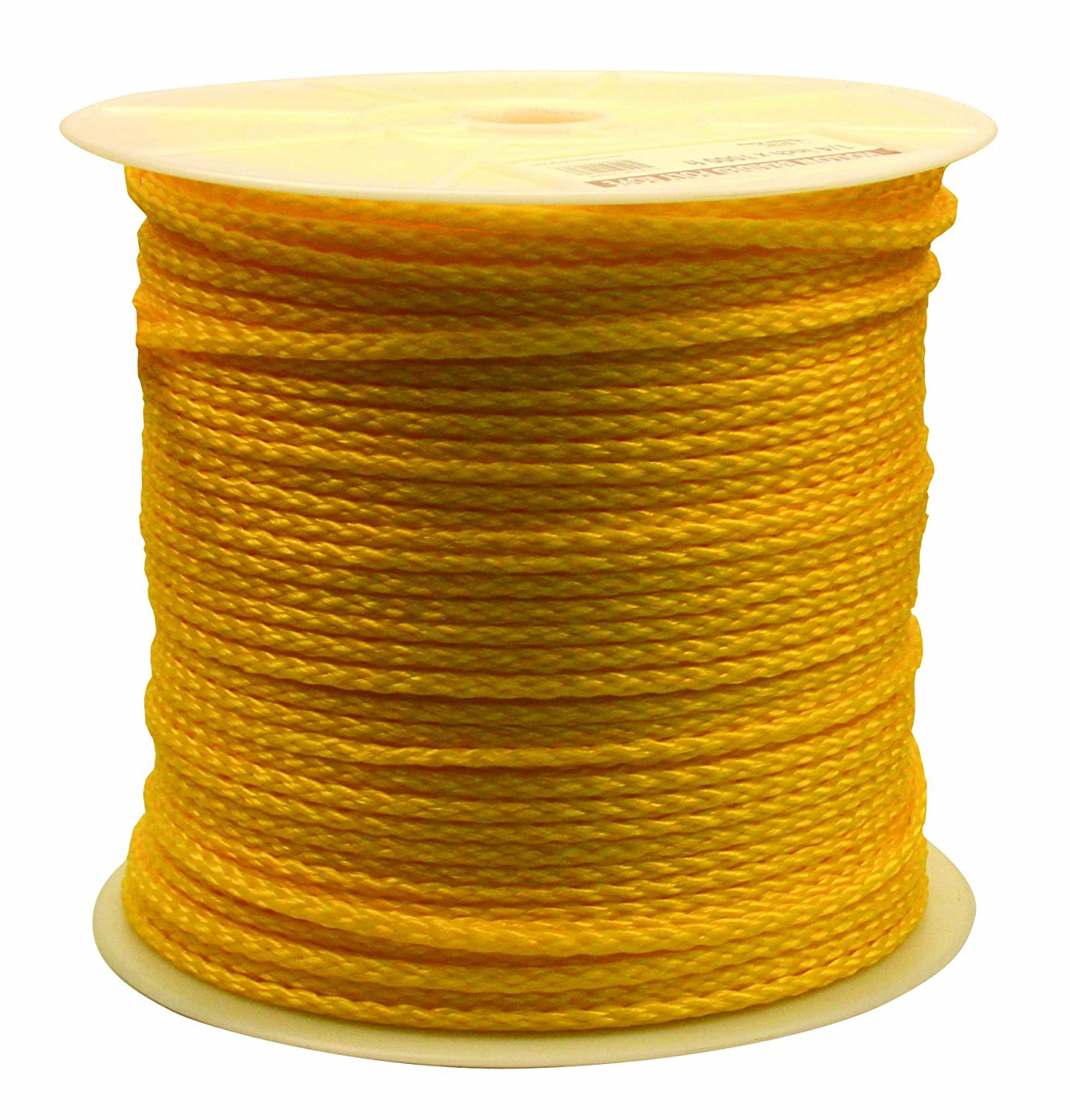Rope King HBP-141000Y Hollow Braided Poly Rope - Yellow - 1/4 inch x ...