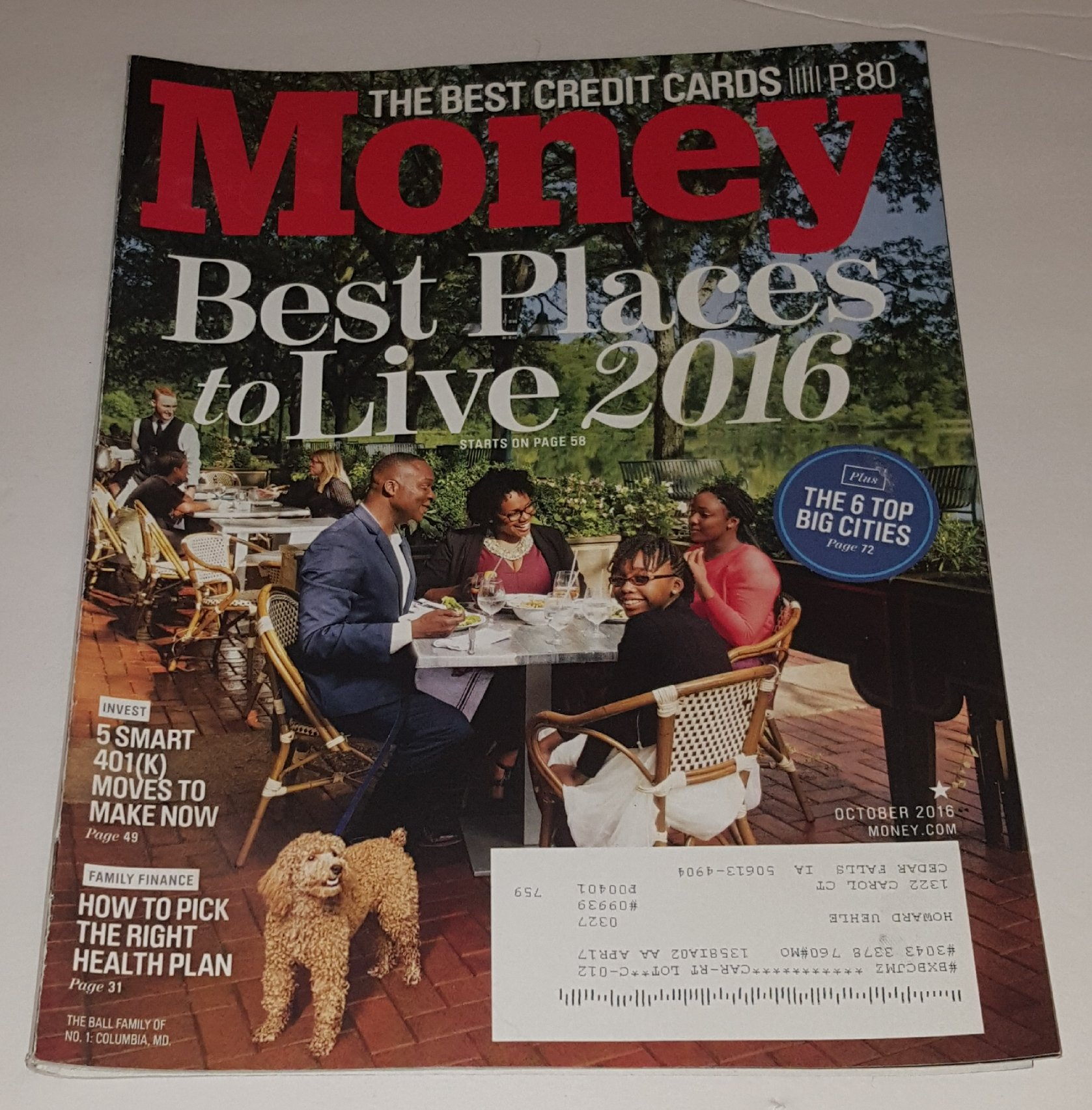 Read Online Money October 2016 Best Places to Live 2016 ebook