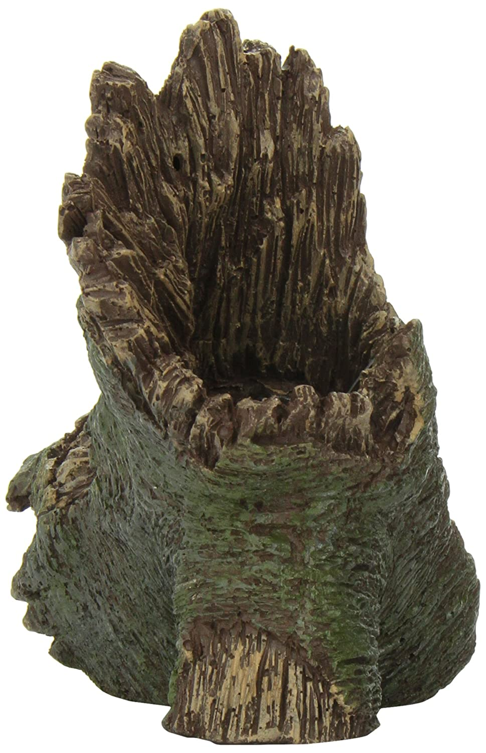 Amazon.com : Aquatic Creations Hollow Log Stump Aquarium Ornament : Aquarium Decor Ornaments : Pet Supplies
