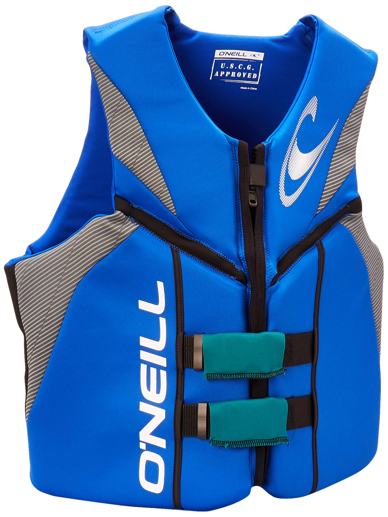 O'Neill Wetsuits  Men's Reactor USCG Life Vest,Pacific/Lunar/Black,X-Large by O'Neill Wetsuits