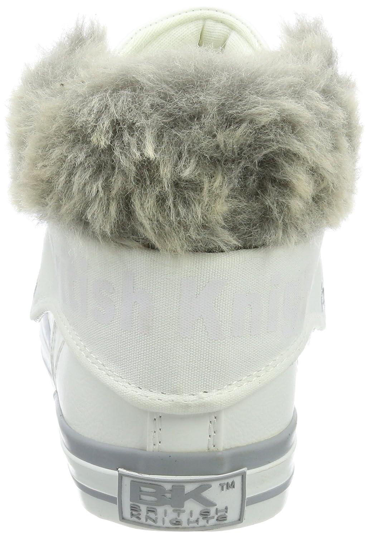 British Knights Weiß Damen Roco Hohe Sneaker Weiß Knights (Fur Fabric Weiß/Grau) 35da26