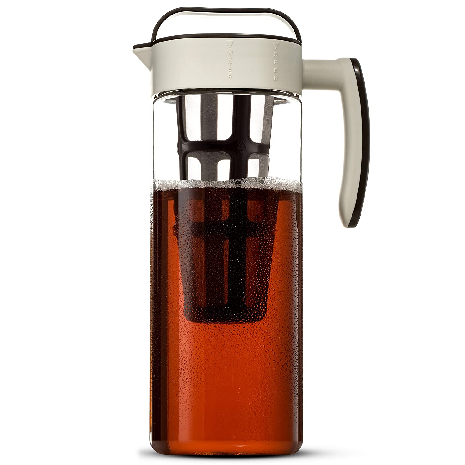 Komax Large Cold Brew Coffee Maker 2 quart (8 Cups) Tritan Pitcher - With Stainless Steel Mesh Infuser - Air Tight Seal, Space Saving Square Design For Concentrated Hot or Cold Beverages