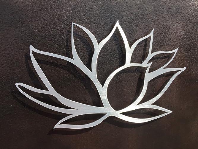 Lotus Flower Brushed Aluminum Metal Wall Art & Amazon.com: Lotus Flower Brushed Aluminum Metal Wall Art: Handmade