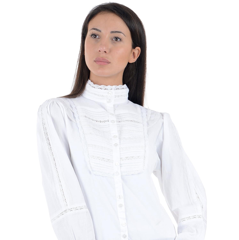 De algodón blanco Vintage Victorian Edwardian precisa Florence ...