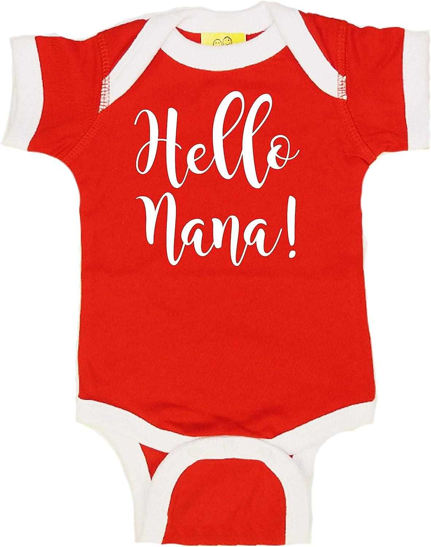 Sticky Bananas Unisex-Baby Hello Nana Baby Bodysuit