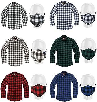 Camisa de Manga Larga Janeo British Apparel, para Hombre leñador a Cuadros Buffalo Check, Mezcla de algodón Cepillado Ligero, Brawny Tartan Estilo. ...